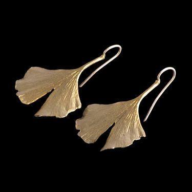 gingko earrings.
