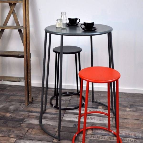 95cm High Bongo Bar Table With 2x 65cm High Bongo Stools $185