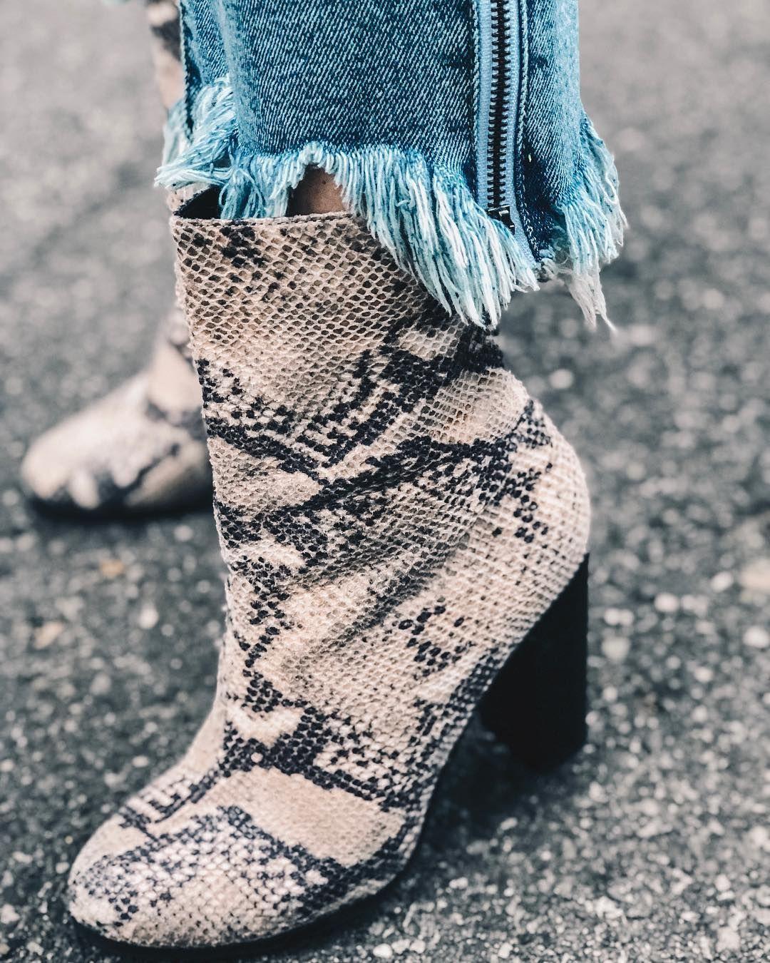 target snakeskin booties