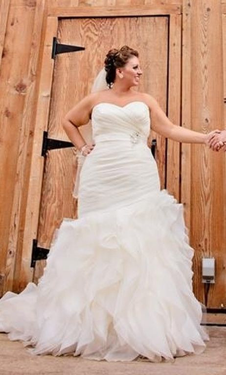 Plus Size Brides Wanting A Strapless Wedding Gown Can Have One