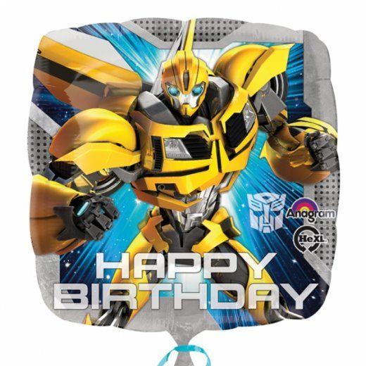 Happy Birthday Balloons Happy Birthday Cards Transformer Birthday