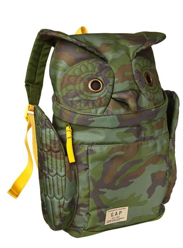 36cde71e86 Camo owl backpack from baby gap