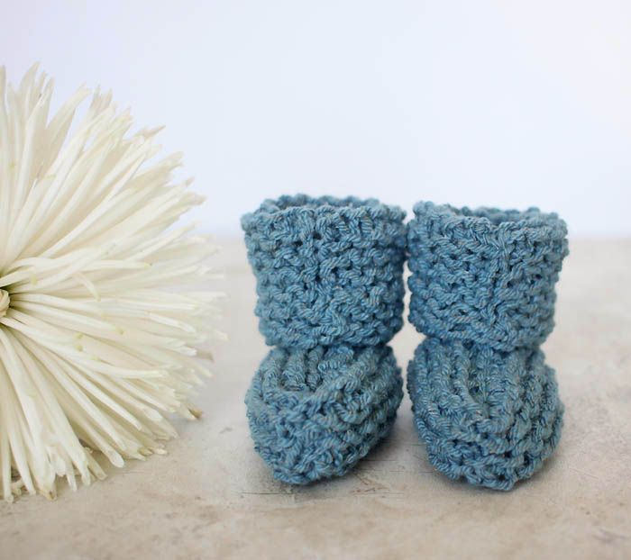 Easy Baby Booties Knitting Pattern   Baby booties, Knitting patterns ...