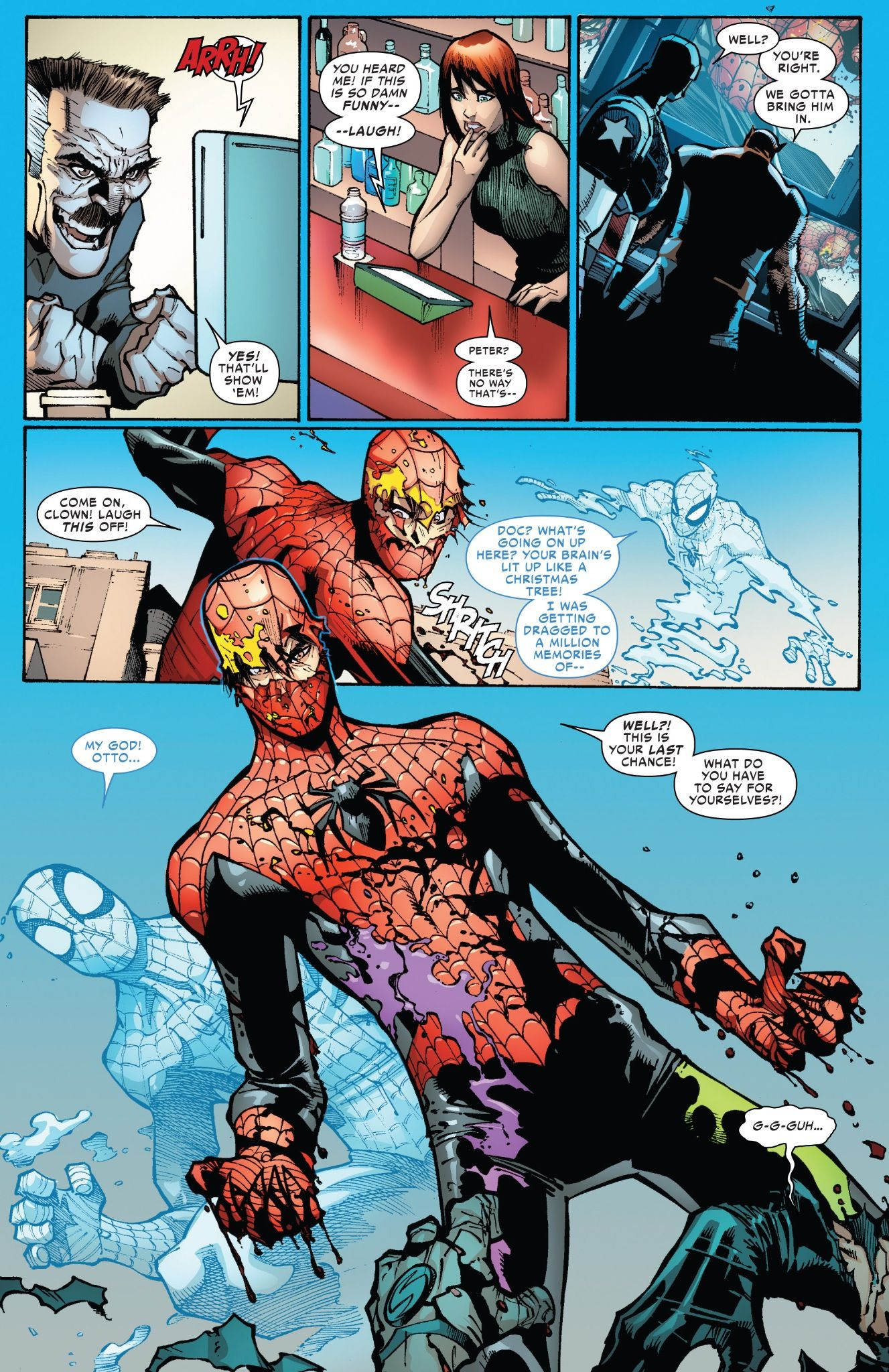 Kết quả hình ảnh cho superior spiderman vs vulture