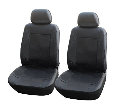 115301 Blackleather Like 2 Front Car Seat Covers Compatible To Jeep Wrangler Unlimited Compass Patriot 20172007 Click On The Image For