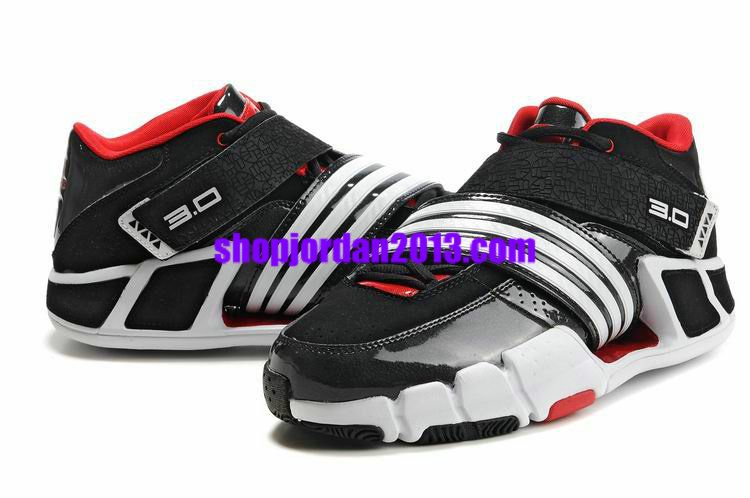 free delivery look for cheap for sale Adidas Pilrahna III T Mac 3.0 Black/White/Red Cheap NBA Basketball ...