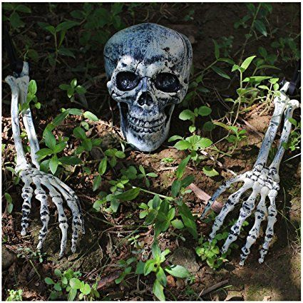 Spooktacular Creations Realistic Looking Skeleton Stakes Lawn Stakes - halloween decorations for the yard