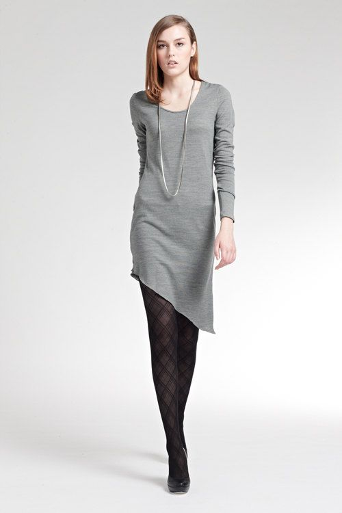 Asymmetric Wool Blend Dress  Free Shipping  by themulberrystreet, $39.90