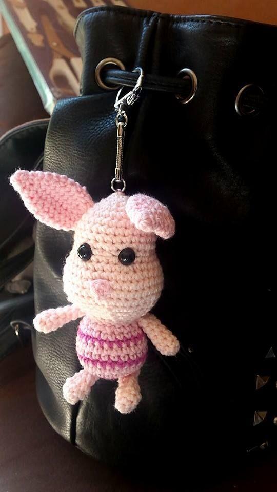 Petit porcinet couture pinterest porte cl s crochet amigurumi et tricot et crochet - Porte cle crochet ...