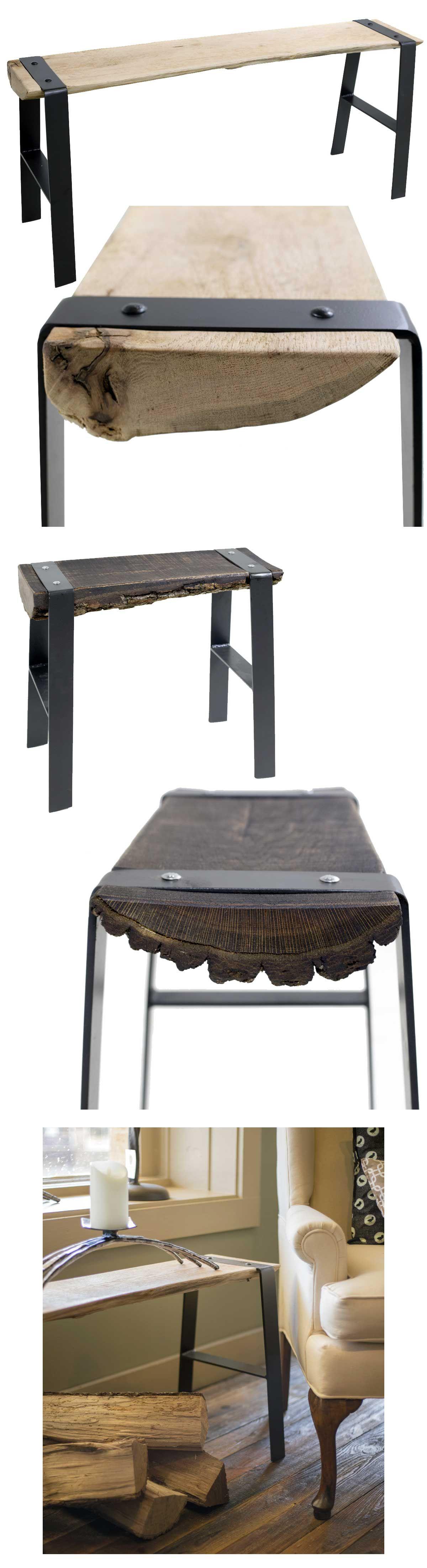 Urban Forge 42 inch Iron Bench Soffbord, Möbler och Inredning
