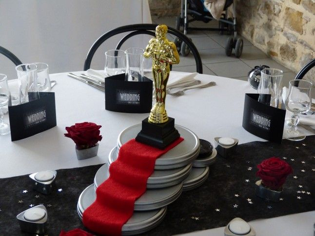 Mon mariage cin ma focus sur la d co th me cin ma for Table theme cinema