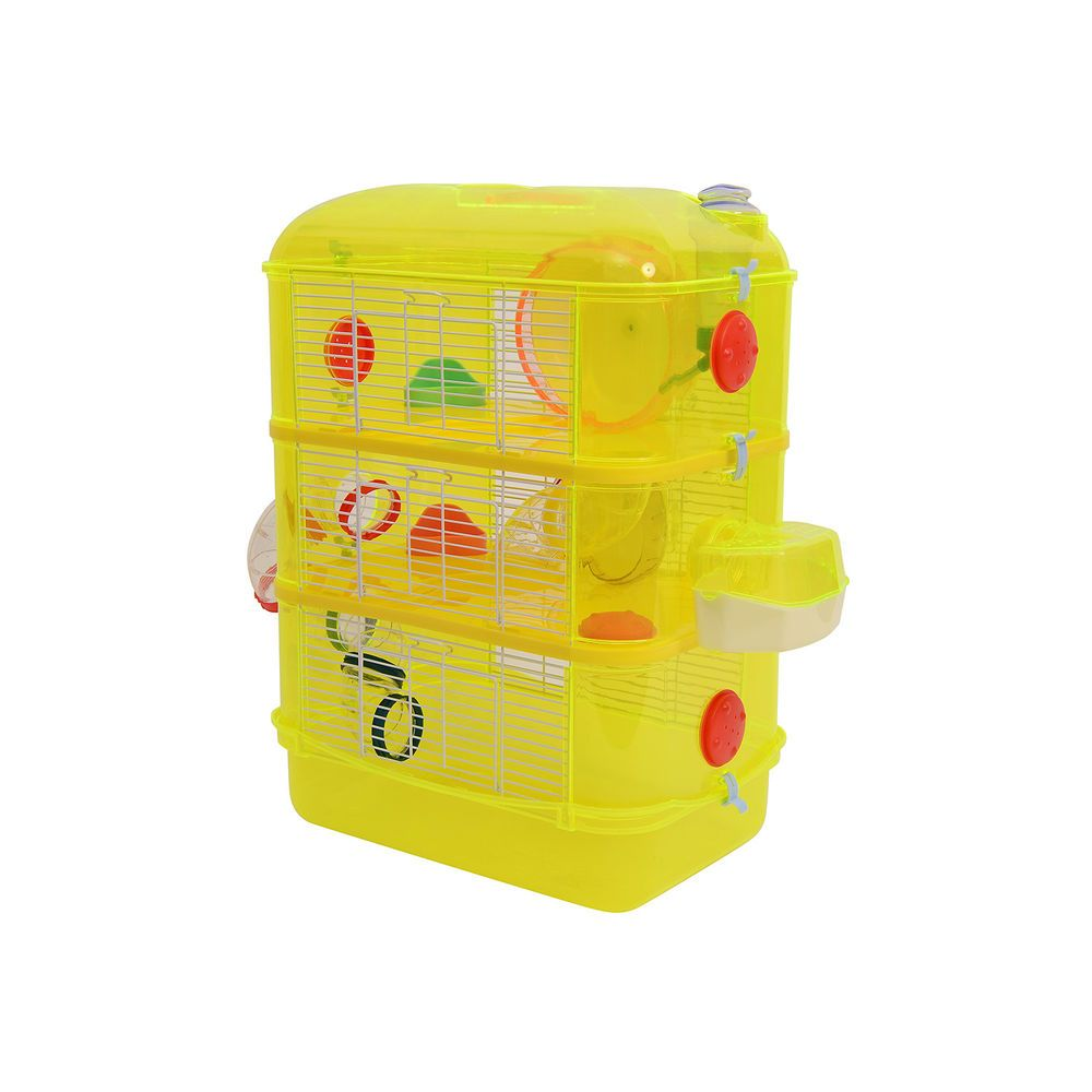 3 Story Small Animals House Hamster Cage Toy Play Plastic Metal W