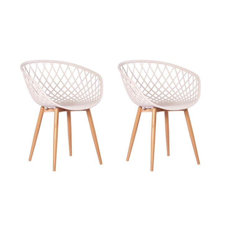Conjunto Com 2 Cadeiras Sidera Fendi Bege Cadeiras Cadeiras De