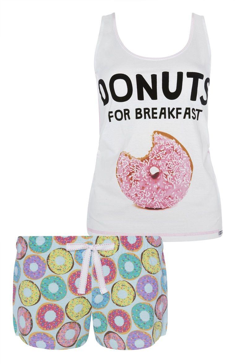 Primark - Donuts For Breakfast PJ Set A Dormir a74d73bd4ba