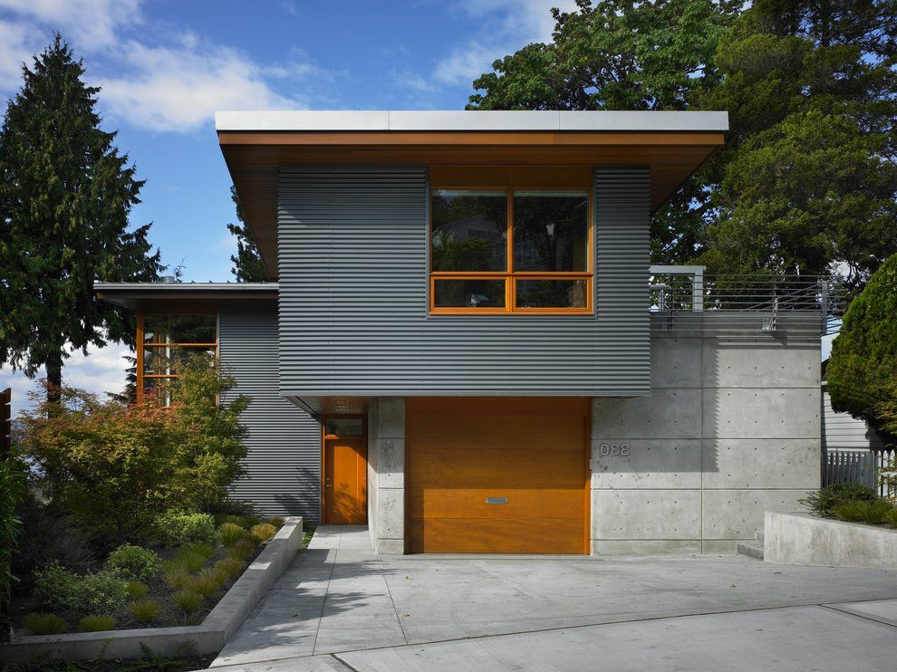 Best Corrugated Metal Siding Exterior Contemporary With 400 x 300