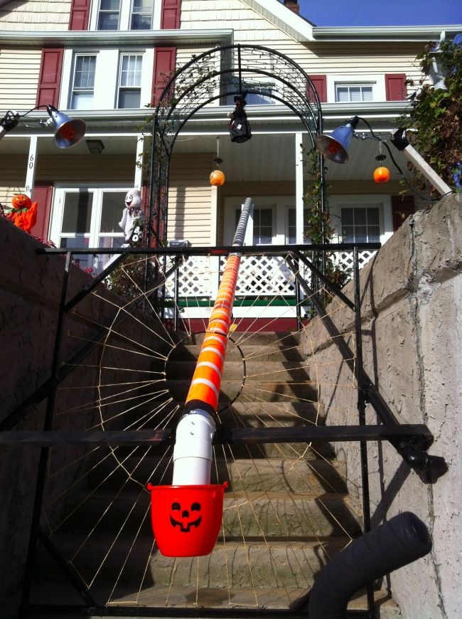 DIY 2 Story Candy Slide is a Trick for Treats Craziest