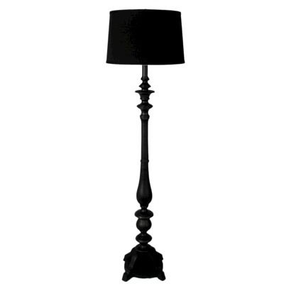 2 In Black Threshold Double Socket Floor Lamp Includes