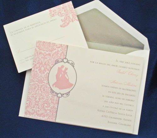 Cinderella qinceanera invitations Wedding Invitation Sample for