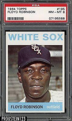 1964 Topps SETBREAK #195 Floyd Robinson White Sox PSA 8 NM-MT