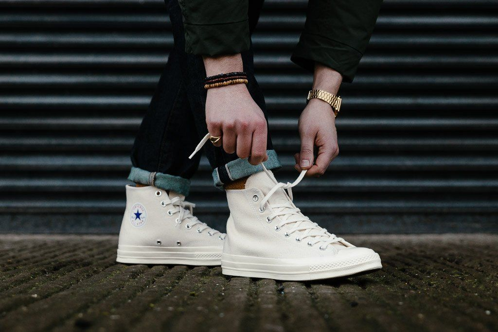 df74883fe9c Converse Chuck Taylor  70s Hi 151227C in Natural   Clematis Blue available  to buy now at Soleheaven
