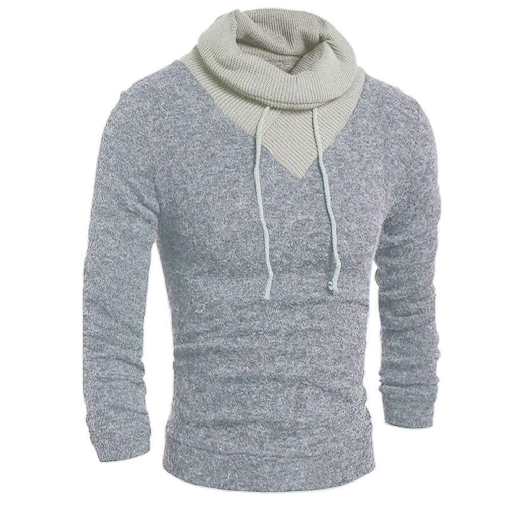 Casual Men's Spring Autumn Thin Sweater Fashion Male Turtleneck ...