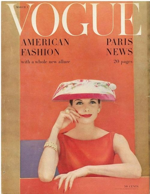 Anne St Marie on the cover of Vogue, March 1956.