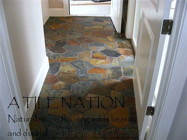 Tile And Decor Denver Slate  Flagstone Floor Tile  Product Supplier  Stonecontact