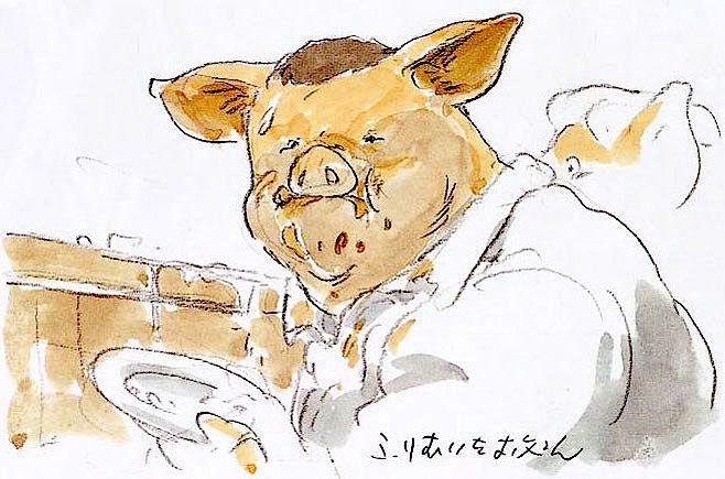 Film Spirited Away 千と千尋の神隠し Concept Scene Parents To Pigs Hayao Miyazaki Miyasaki Japon
