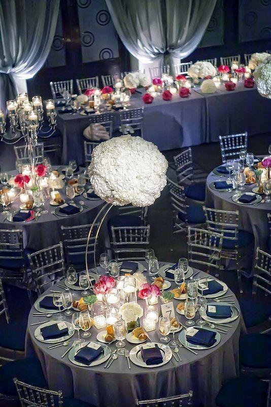 Navy And Silver Grey Wedding Decor Google Search