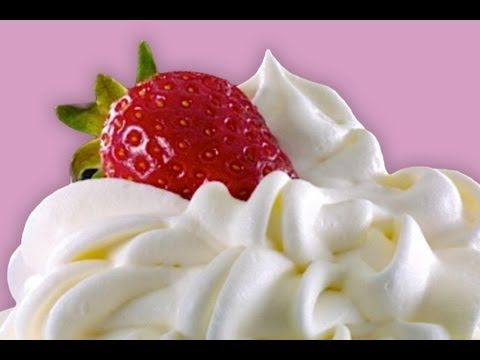 Receta de Chantilly o Nata Montada de Crema de Leche - YouTube