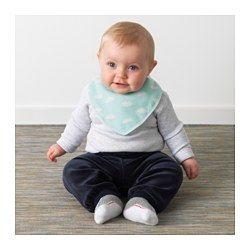 IKEA - HIMMELSK, Smekke, , Holder ditt barn tørt og komfortabelt, siden den beskytter barnets tøy og hud mot fukt. Ideell, f.eks. når barnet får tenner.Borrelåsen gjør det enkelt å ta den av og på.Enkel å brette sammen og oppbevare til neste måltid.