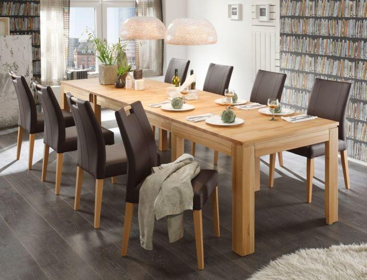 Table en bois massif haut de gamme en 27 photos table - Table de salle a manger en bois massif ...