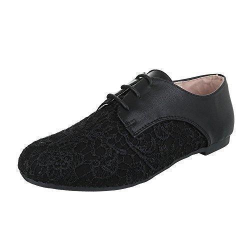 Ital-design - Chaussures Plates Avec L'homme Lacets, Couleur Noir, Taille 42 Eu