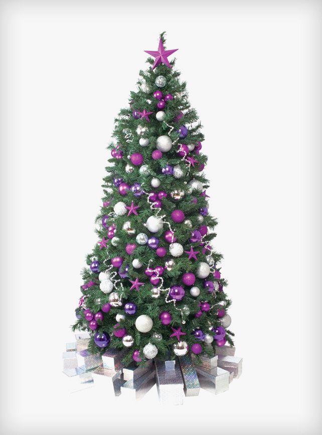 Celebration Christmas Tree #christmas #tree #hire #rental #purple - christmas decorators for hire