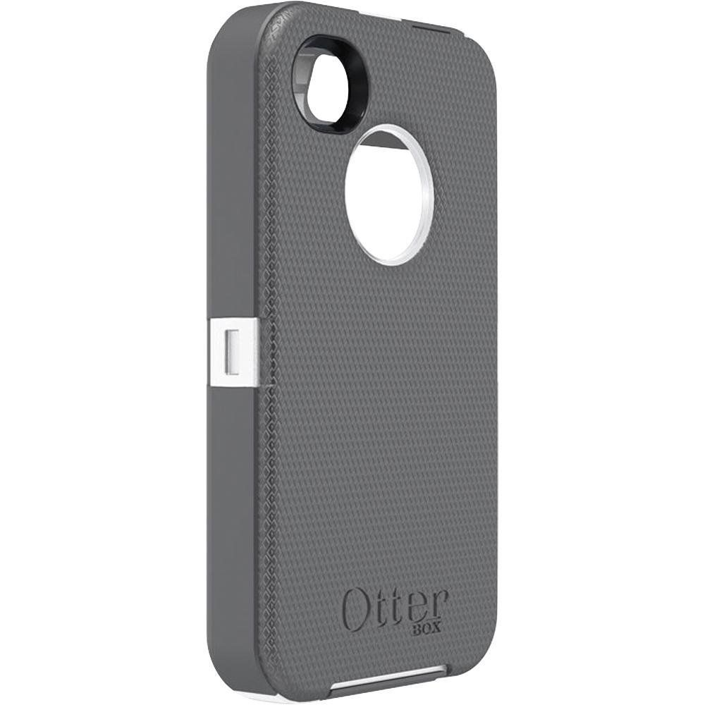 904a7a6de63bcd Otterbox Defender Series Hybrid Case   Holster for iPhone 4   4S - Retail  Packaging - White Gunmetal Grey