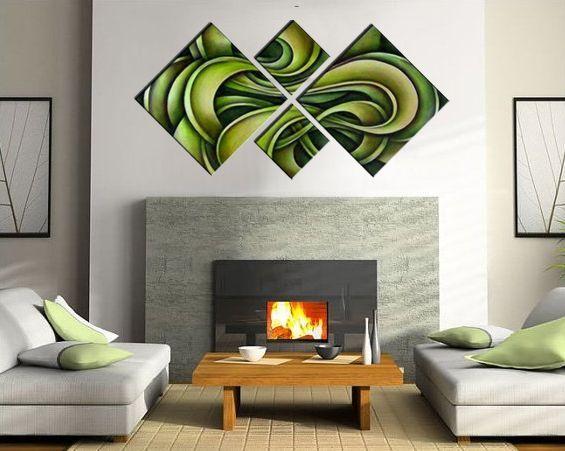 cuadros dormitorios salones verde pistacho 1627 - Tienda de ...