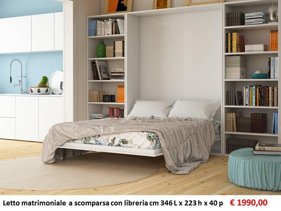 Libreria Con Letto A Scomparsa : Letto matrimoniale a scomparsa con libreria euro libreria