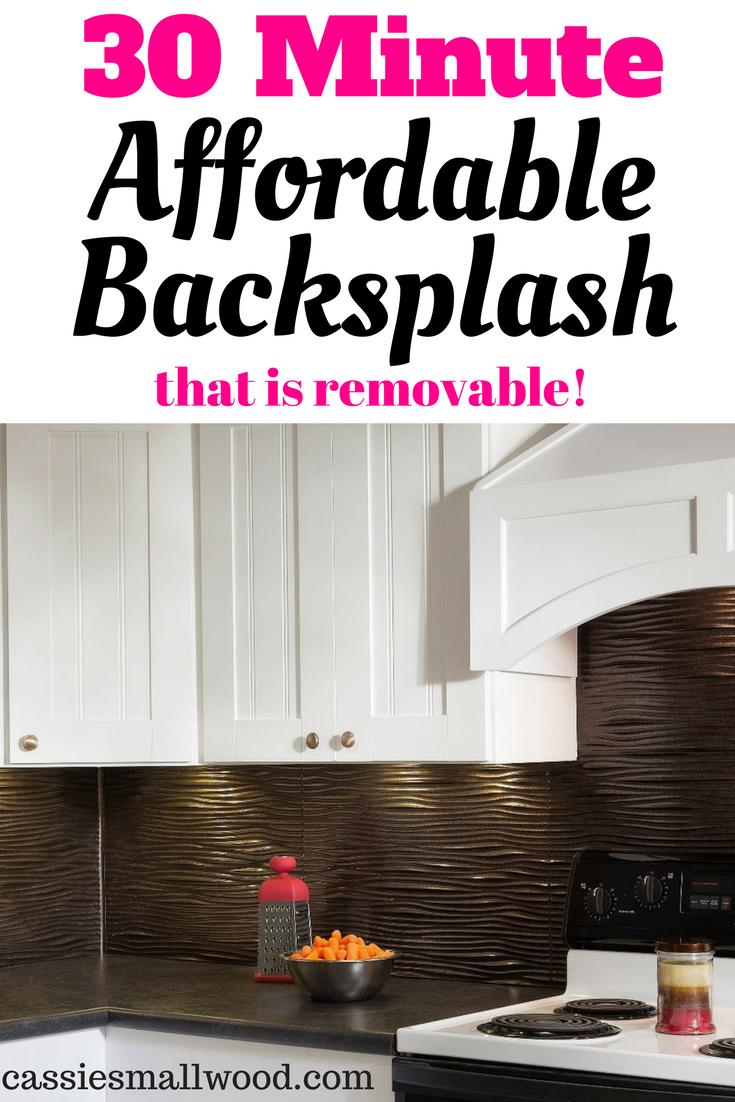 Diy Kitchen Backsplash Idea For Renters Diy Backsplash Diy