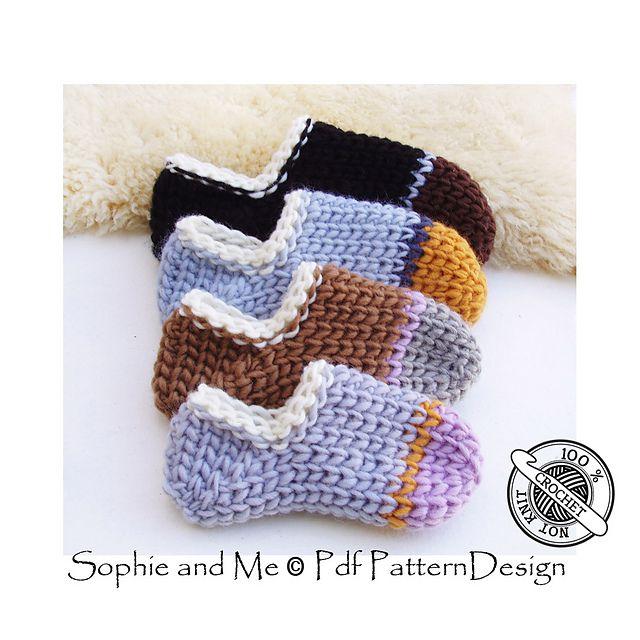 Tube Sock Slippers Pattern By Sophie And Me Ingunn Santini