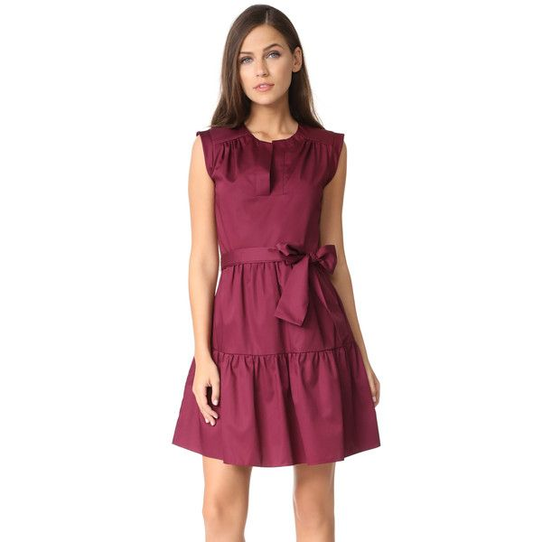 Amanda Uprichard Grenache Dress ($200) ❤ liked on Polyvore featuring dresses, merlot, purple dresses, amanda uprichard and amanda uprichard dress