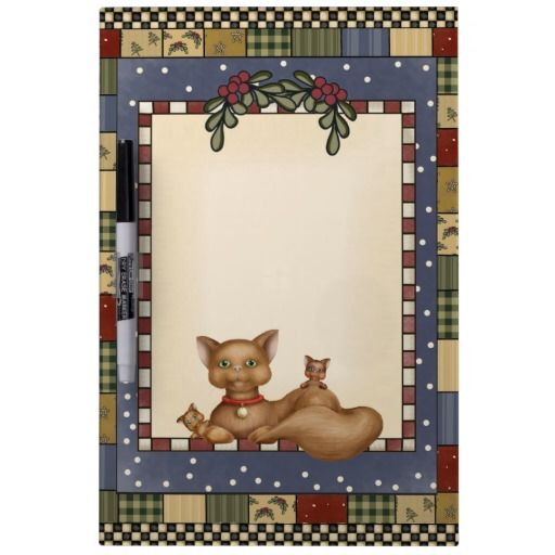 Christmas Kitty Dry Erase Board