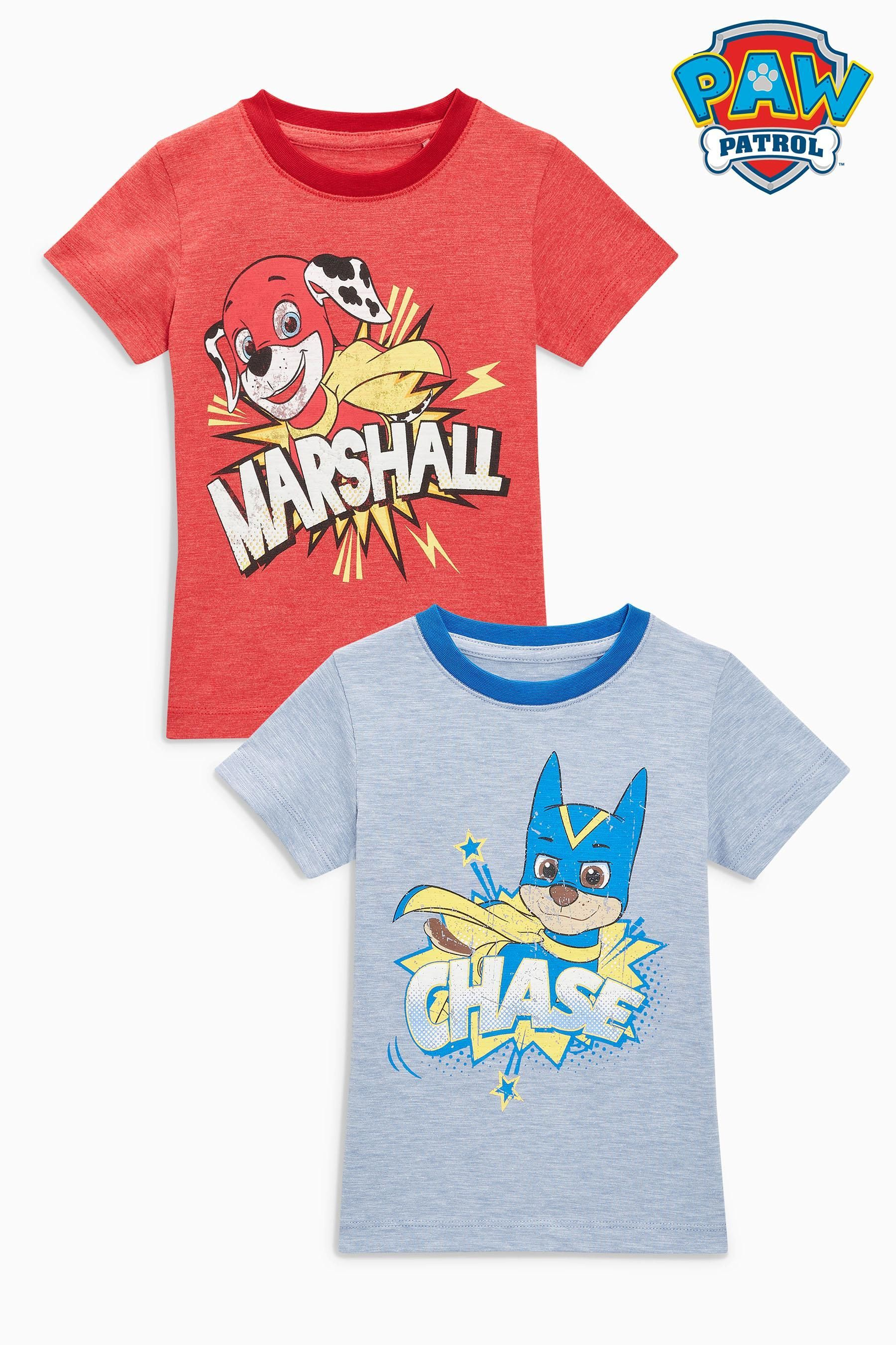 d29d68c9d577c Buy Blue/Red Marl Short Sleeve Paw Patrol T-Shirts Two Pack (3mths-6yrs)  from the Next UK online shop