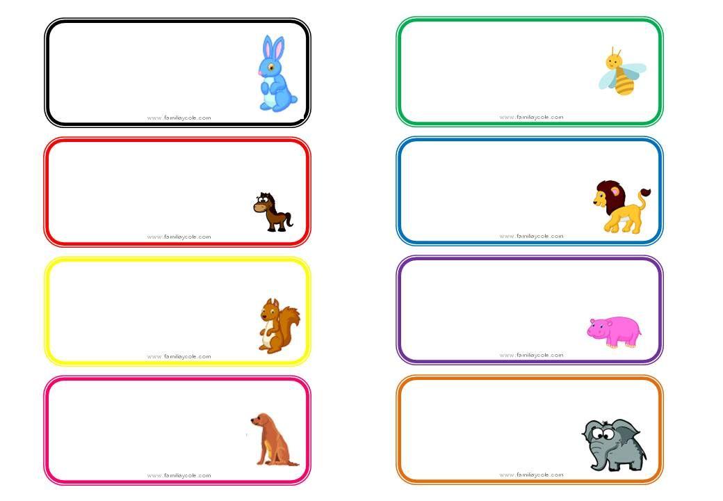 Caratulas Color Cuadernos Escolares Infantiles Dibujos Para 2: Diferentes Modelos De Etiquetas Escolares Para Descargar