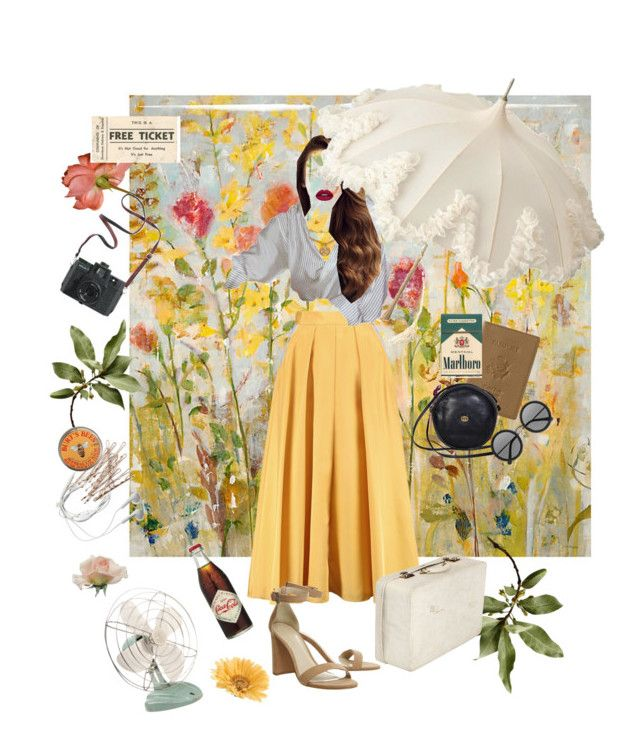 Pleats in the Meadow by marshakaethlyn on Polyvore featuring polyvore, fashion, style, Roksanda, Gucci, Royce Leather, Versace, The Row, Huda Beauty, Burt's Bees, Ballard Designs, Gerber, Madewell, Samsung and clothing