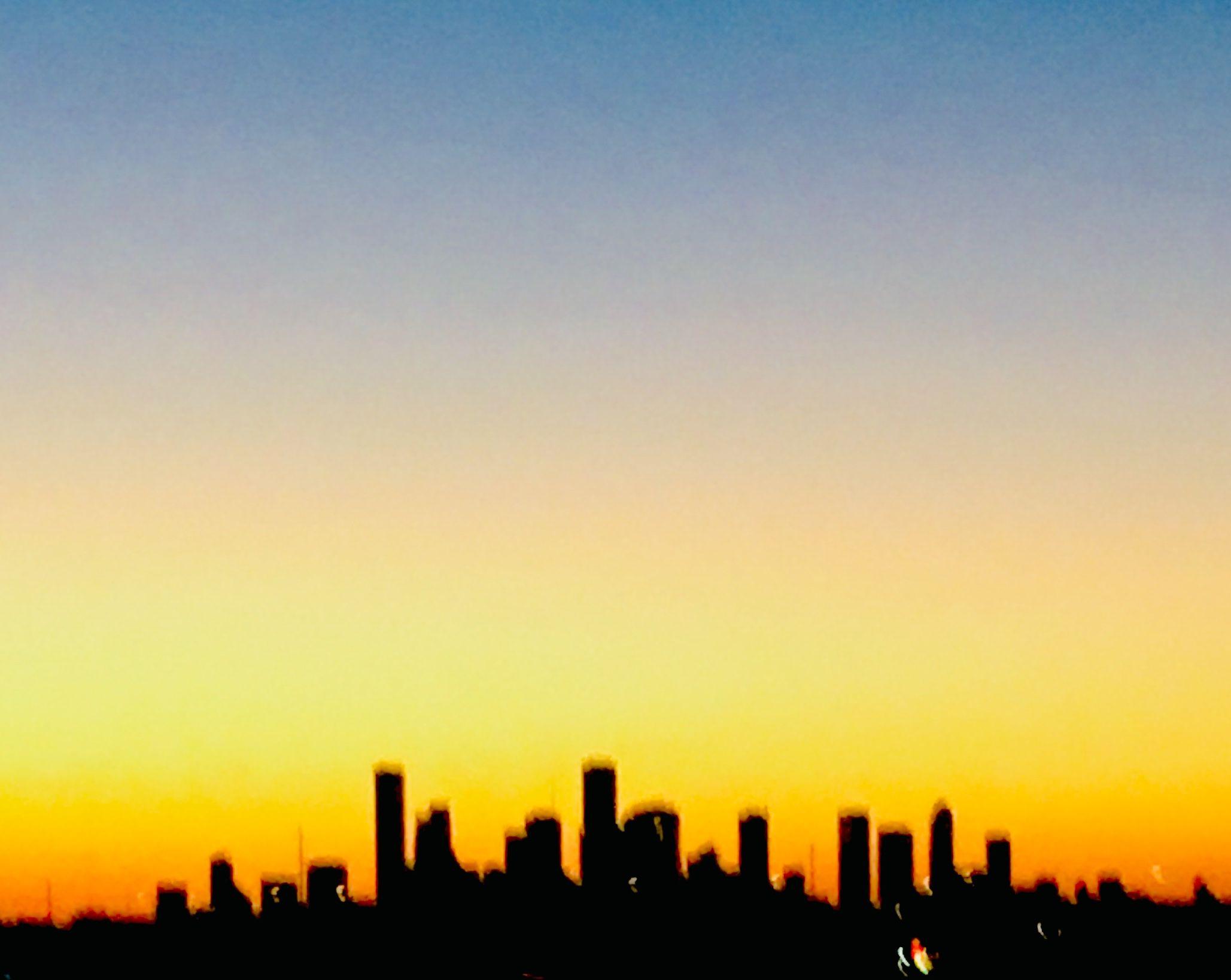 Houston Skyline Sunset Houston Skyline Beautiful Places Sunset