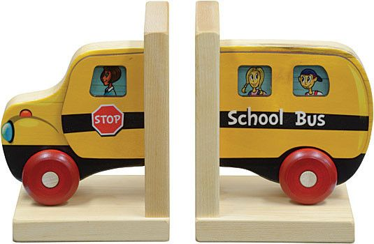 Mighty Driver Bookends School Bus Graham