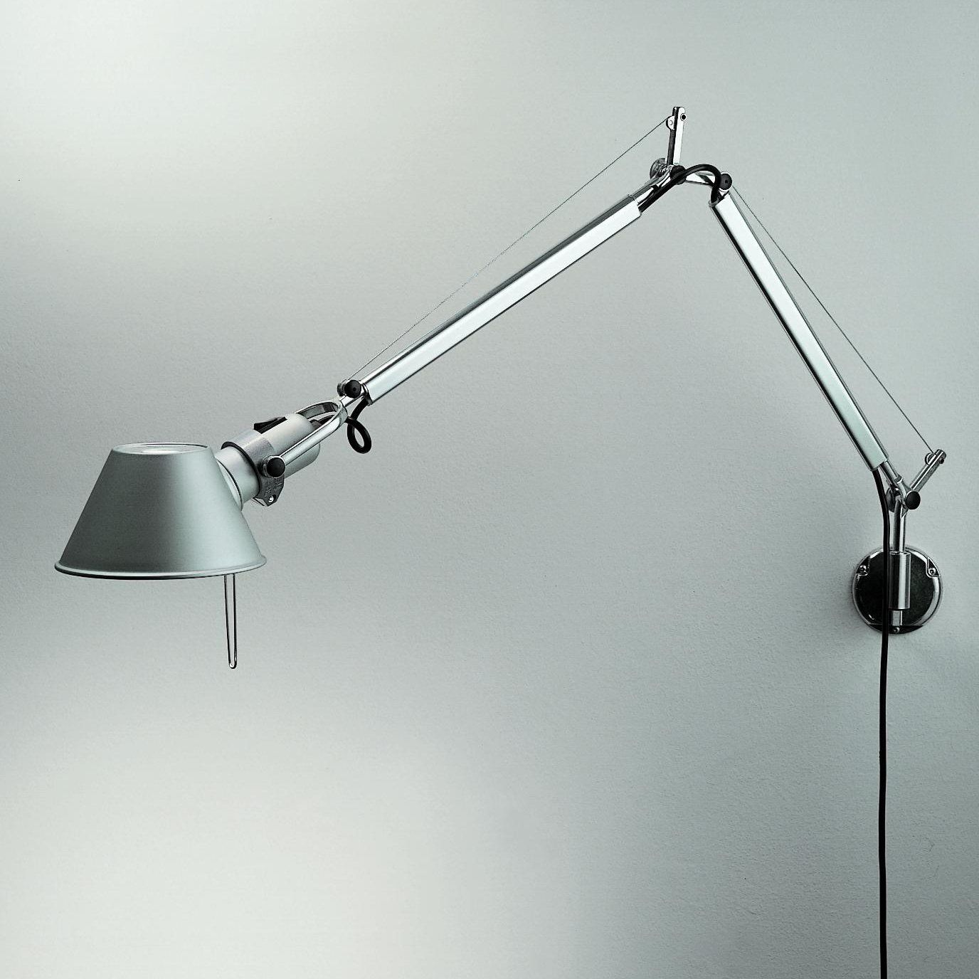 Shop Artemide Usc Tolomeo Micro Wall Sconce Aluminum At