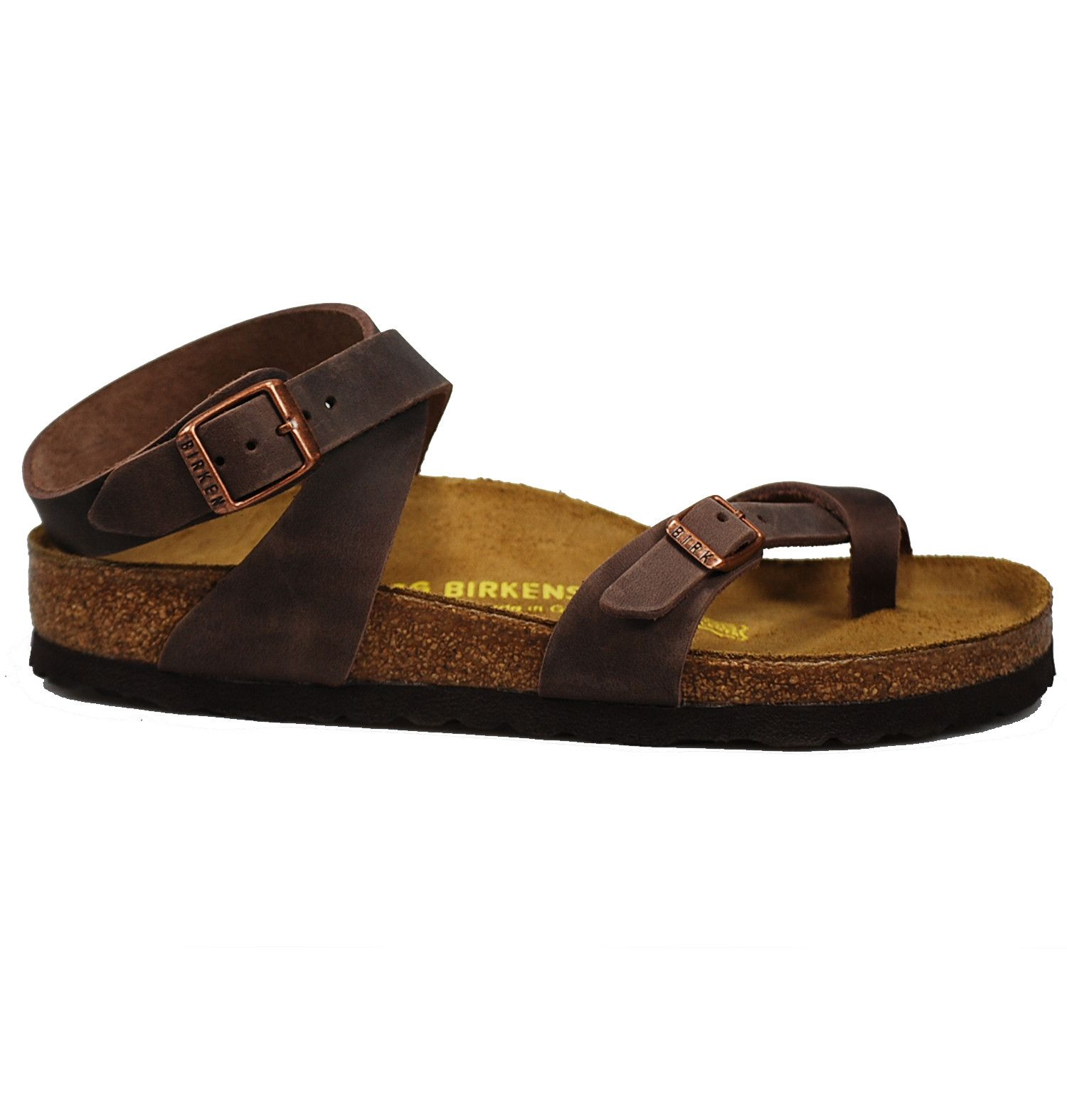 Birkenstock Womens ARIZONA Leather Open Toe Casual Slide Brown Size 80