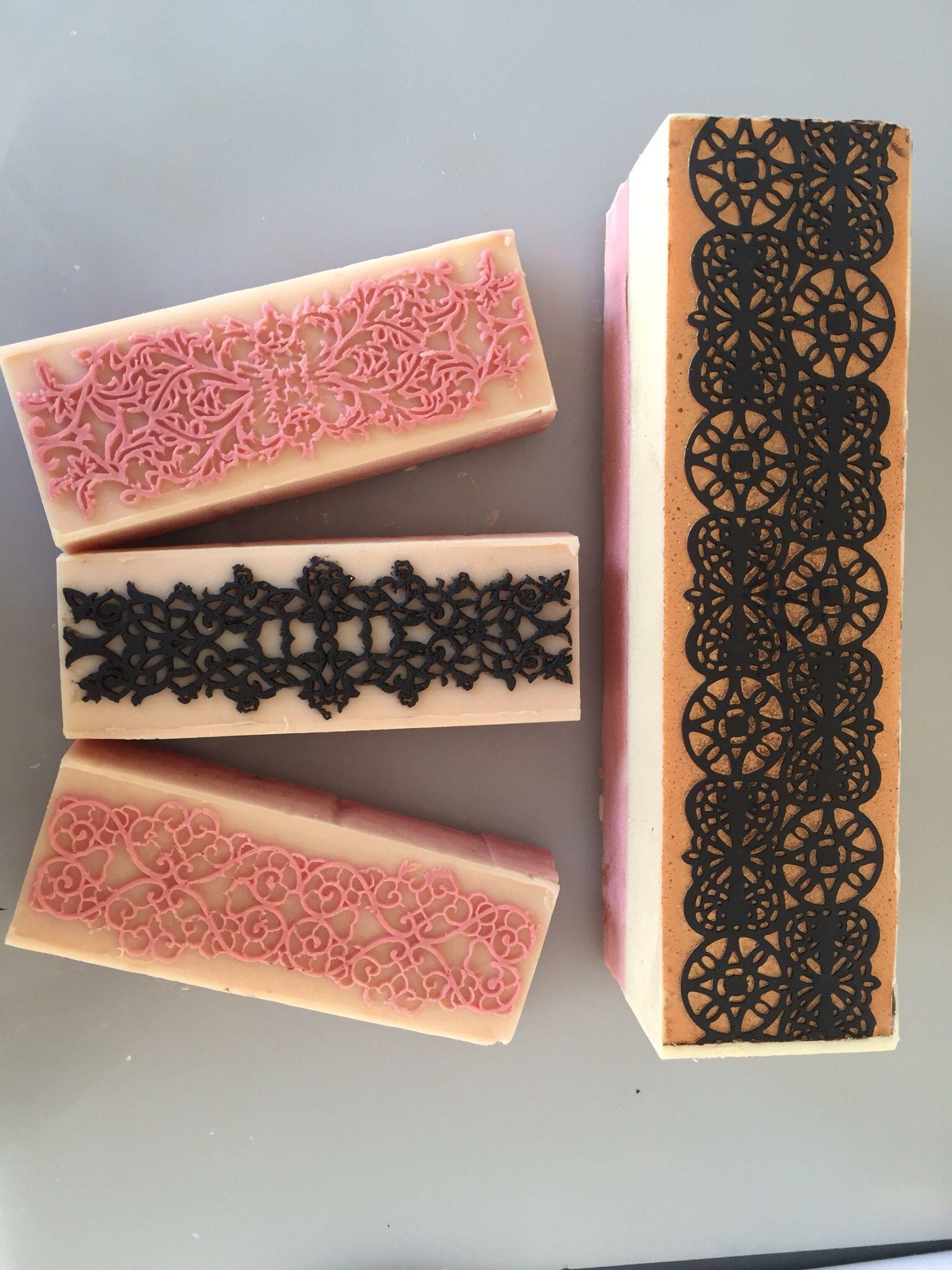 Uncut soap for the impression mat soap challenge