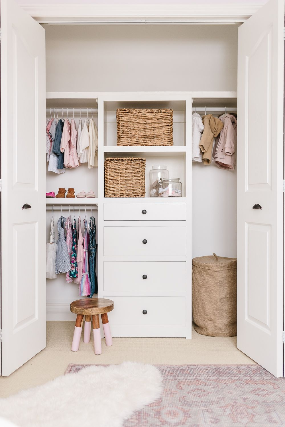 Kids Closet Organization Ideas and Free Plans in 2020